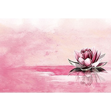 Maxwell Dickson Lotus Graphic Art on Wrapped Canvas; 16'' H x 20'' W