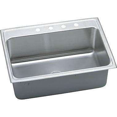 Elkay Gourmet 31'' x 22'' Top Mount Kitchen Sink; 5 Holes