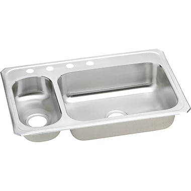 Elkay Gourmet 33'' x 22'' Celebrity Top Mount Kitchen Sink; 2 Hole
