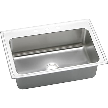 Elkay Gourmet 33'' x 22'' Top Mount Kitchen Sink; 5 Holes