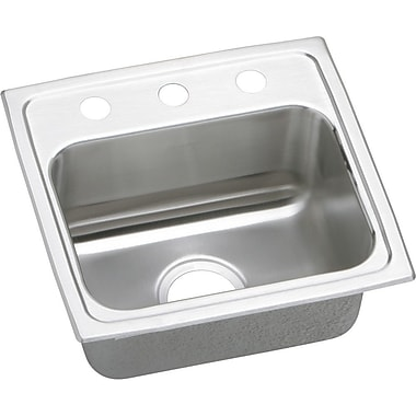 Elkay Gourmet 17'' x 16'' Top Mount Kitchen Sink; No Hole