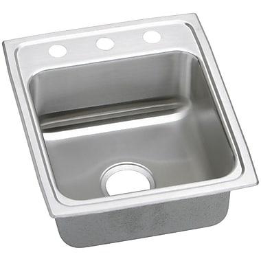 Elkay Gourmet 15'' x 22'' Lustertone Kitchen Sink; 3 Holes