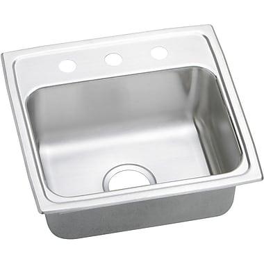 Elkay Gourmet 19'' x 18'' Lustertone Kitchen Sink; 2 Holes