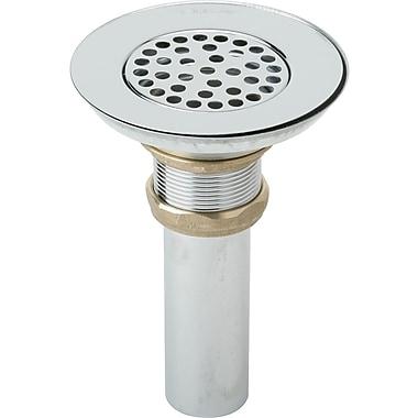 Elkay 5'' Grid Bathroom Sink Drain; Chrome Plated
