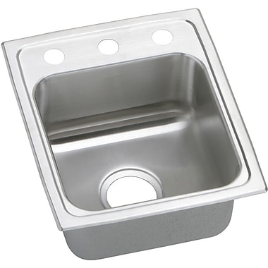 Elkay Pacemaker 15'' x 17.5'' Single Bowl Kitchen Sink; 2 Holes
