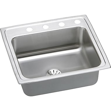 Elkay Gourmet 25'' x 21.25'' Kitchen Sink w/ Perfect Drain; 2 Hole