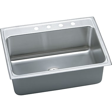 Elkay Gourmet 31'' x 22'' Top Mount Kitchen Sink w/ Perfect Drain; 3 Hole