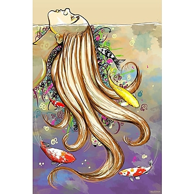 Maxwell Dickson Swim w/ the Fishes Graphic Art on Wrapped Canvas; 20'' H x 16'' W