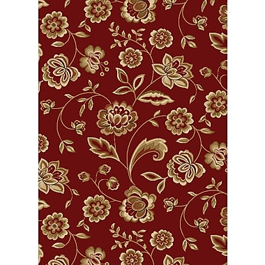 Mayberry Rug City Claret Flora Area Rug; 5' x 8'