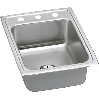 Elkay Gourmet 17'' x 22'' Kitchen Sink w/ Perfect Drain; 4 OS Hole
