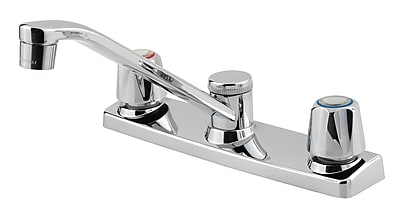 Pfister Pfirst Series Double Handle Kitchen Faucet w/ Side Spray