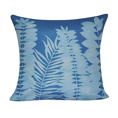 Loom and Mill Leaf Decorative II Throw Pillow; Dark Blue