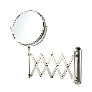 Glimmer by Nameeks Wall Mounted Makeup Mirror; Satin Nickel