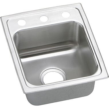 Elkay Gourmet 15'' x 17.5'' Lustertone Kitchen Sink; MR2 Hole