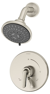 Symmons Elm Pressure Balance Shower Faucet w/ Lever Handle; Satin Nickel