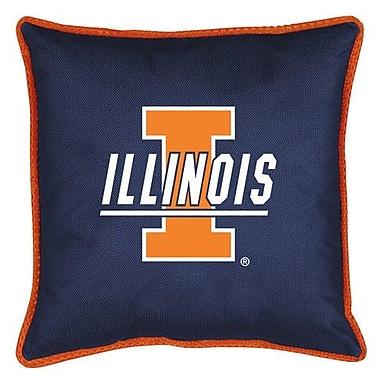 Sports Coverage NCAA Illinois Sidelines Throw Pillow