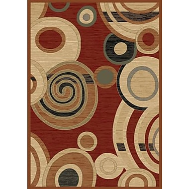 Mayberry Rug City Ritz Claret Area Rug; 5' x 8'