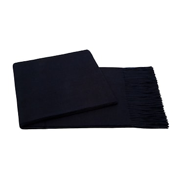 Cashmere Collection Baby Aplaca Wool Throw; Navy