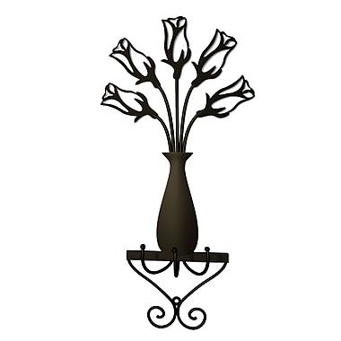 Plastec Rose Vase Wall Hook