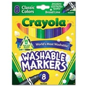 Crayola Washable Broad Point Markers (8/Pack)