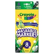 Crayola Washable Fine Point Markers (8/Pack)