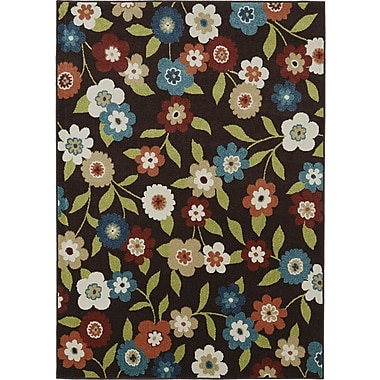 Mayberry Rug Lifestyles Chocolate Daisy Field Indoor/Outdoor Area Rug; 8' x 10'