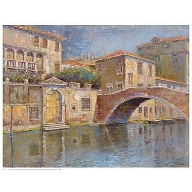 Portfolio Canvas Canal View by Michael Longo Painting Print on Wrapped Canvas