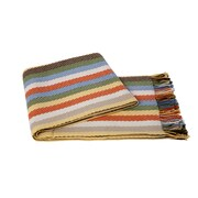 Cashmere Collection Chevron Wool Blend Throw; Multi