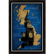 PTM Images London Map Framed Graphic Art