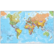 Waypoint Geographic World Mega Map 1:20 Laminated Wall Map