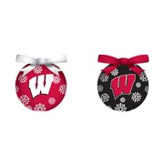 Team Sports America NCAA LED Boxed Ornament Set; Wisconsin