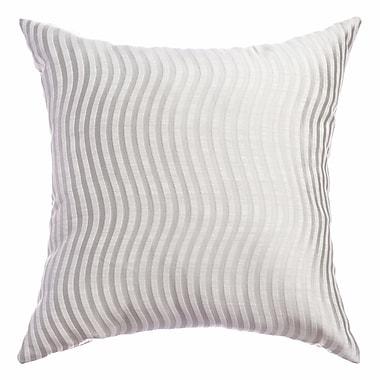 Softline Home Fashions Palatial Wave Stripe Decorative Throw Pillow; White