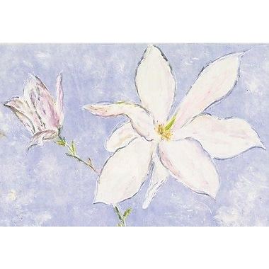 Portfolio Canvas Magnolia Lilac by Andrea Fono Painting Print on Wrapped Canvas in Lilac