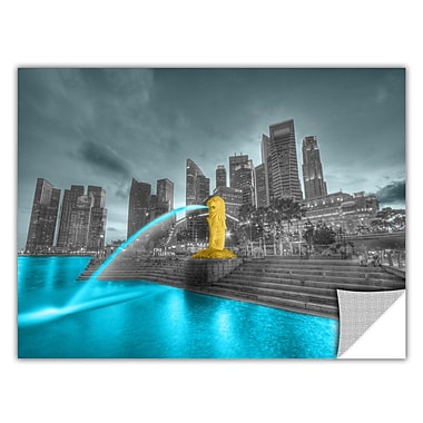 ArtWall ArtApeelz 'Singapore' by Revolver Ocelot Photographic Print Removable Wall Decal