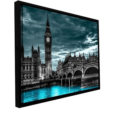 ArtWall 'London' by Revolver Ocelot Framed Photographic Print on Wrapped Canvas; 12'' H x 18'' W
