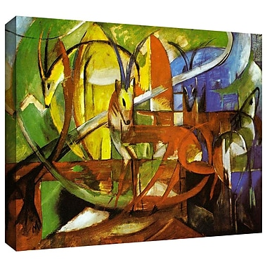 ArtWall 'Gazelles' by Franz Marc Painting Print on Wrapped Canvas; 14'' H x 18'' W