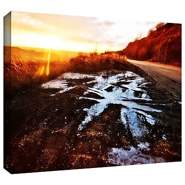 ArtWall 'Roadside' by John Black Photographic Print on Wrapped Canvas; 12'' H x 18'' W