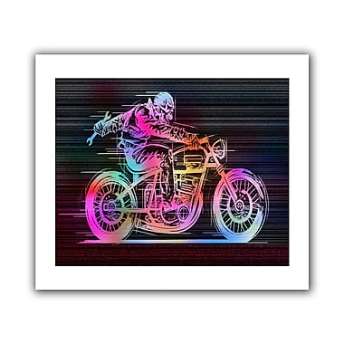 ArtWall Moto IV' by Greg Simanson Graphic Art on Rolled Canvas; 28'' H x 40'' W