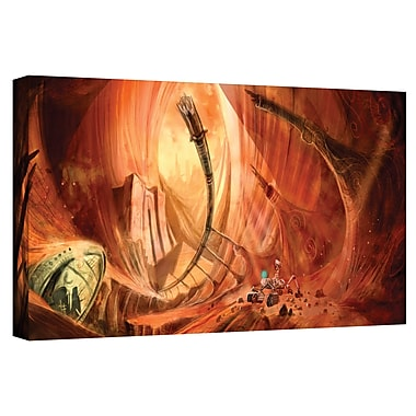 ArtWall 'Monuments of Mars 2' by Luis Peres Graphic Art on Wrapped Canvas; 24'' H x 48'' W