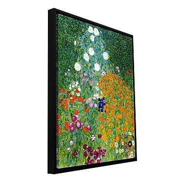 ArtWall 'Farm Garden' by Gustav Klimt Framed Painting Print on Wrapped Canvas; 24'' H x 18'' W