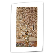ArtWall Tree of Life by Gustav Klimt Painting Print on Rolled Canvas; 24'' H x 12'' W