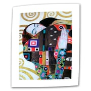 ArtWall Beethoven Frieze by Gustav Klimt Painting Print on Rolled Canvas; 36'' H x 24'' W