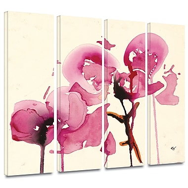 ArtWall 'Orchids I' by Karin Johanneson 4 Piece Painting Print on Wrapped Canvas Set