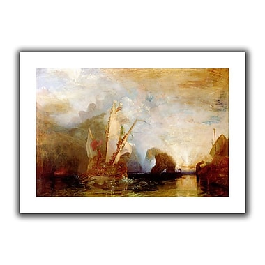 ArtWall Ulysses Deriding Polyphemus' by William Turner Painting Print on Rolled Canvas