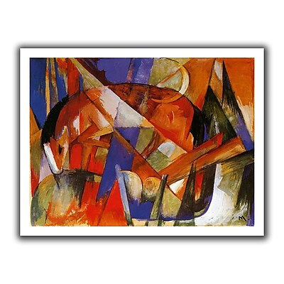 ArtWall Beast II' by Franz Marc Painting Print on Rolled Canvas; 18'' H x 22'' W