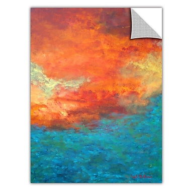 ArtWall ArtApeelz 'Lake Reflections II' by Herb Dickinson Painting Print Removable Wall Decal