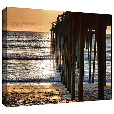 ArtWall 'Fishing Pier' by Steven Ainsworth Photographic Print on Wrapped Canvas; 16'' H x 24'' W