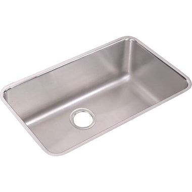Elkay Lustertone 31'' x 19'' Undermount Kitchen Sink w/ Sink Grid and Drain Assembly