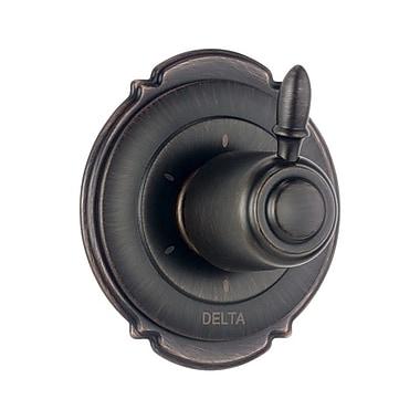 Delta Victorian Diverter Faucet Trim w/ Lever Handles; Venetian Bronze