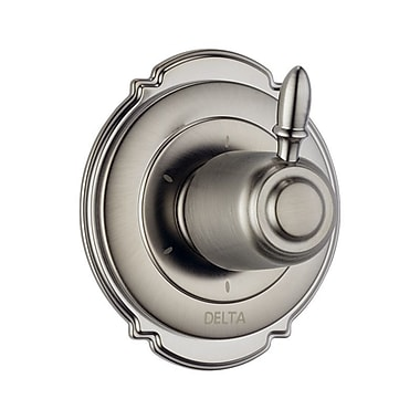 Delta Victorian Diverter Faucet Trim w/ Lever Handles; Brilliance Stainless